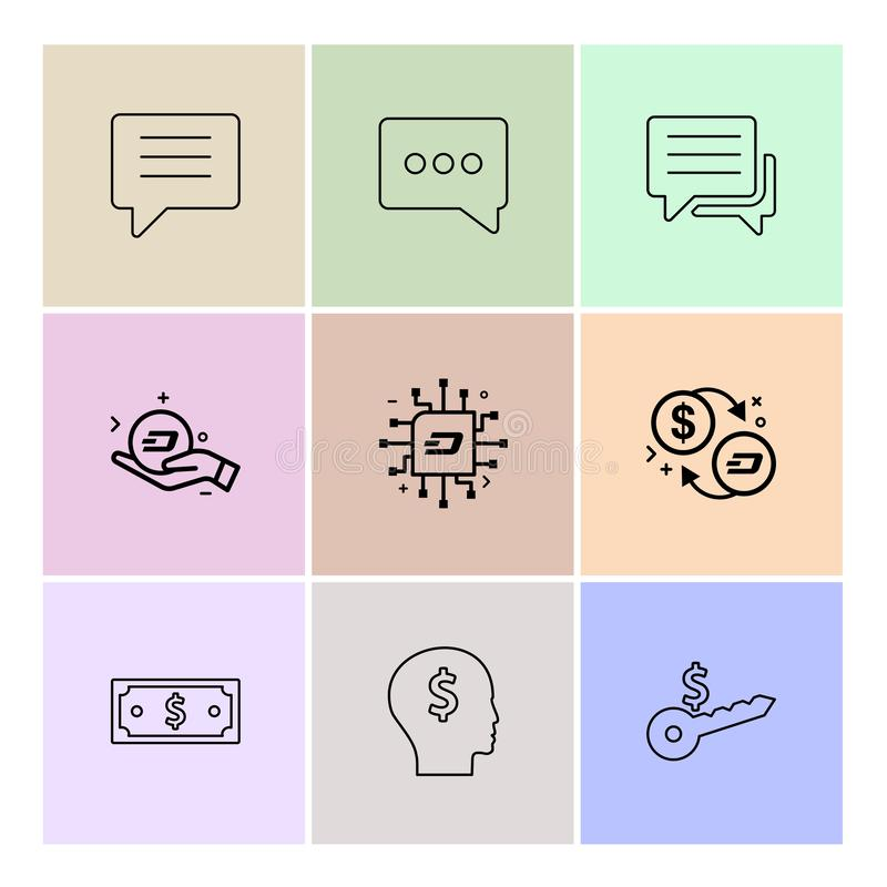 praatje, gesprek, bericht, geld, ic, sleutel, dollar, EP 9 royalty-vrije illustratie