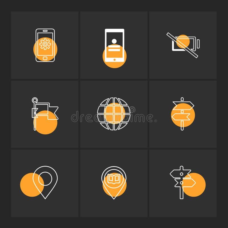 praatje, gesprek, mobiel, connectiviteit, navigatie, wereld vector illustratie