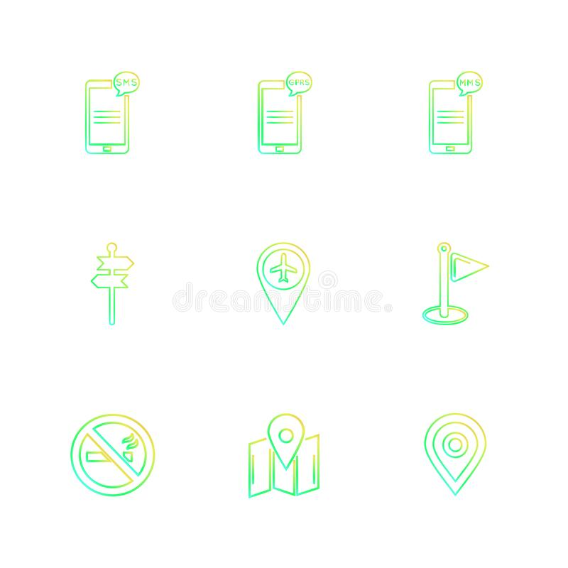 praatje, gesprek, mobiel, connectiviteit, navigatie, wereld stock illustratie