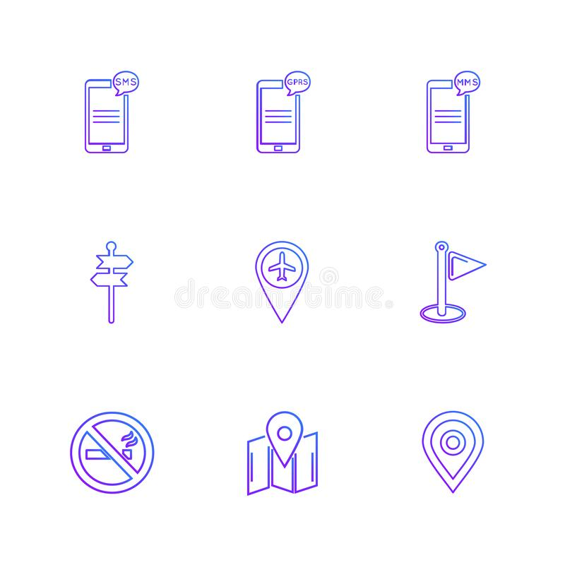 praatje, gesprek, mobiel, connectiviteit, navigatie, wereld royalty-vrije illustratie