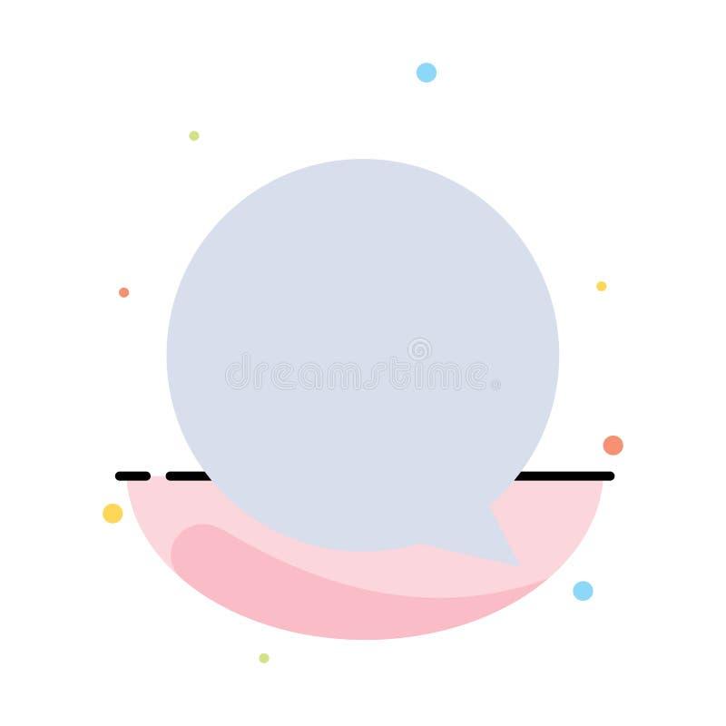 Praatje, Instagram, het Pictogrammalplaatje van de Interface Abstract Vlak Kleur vector illustratie