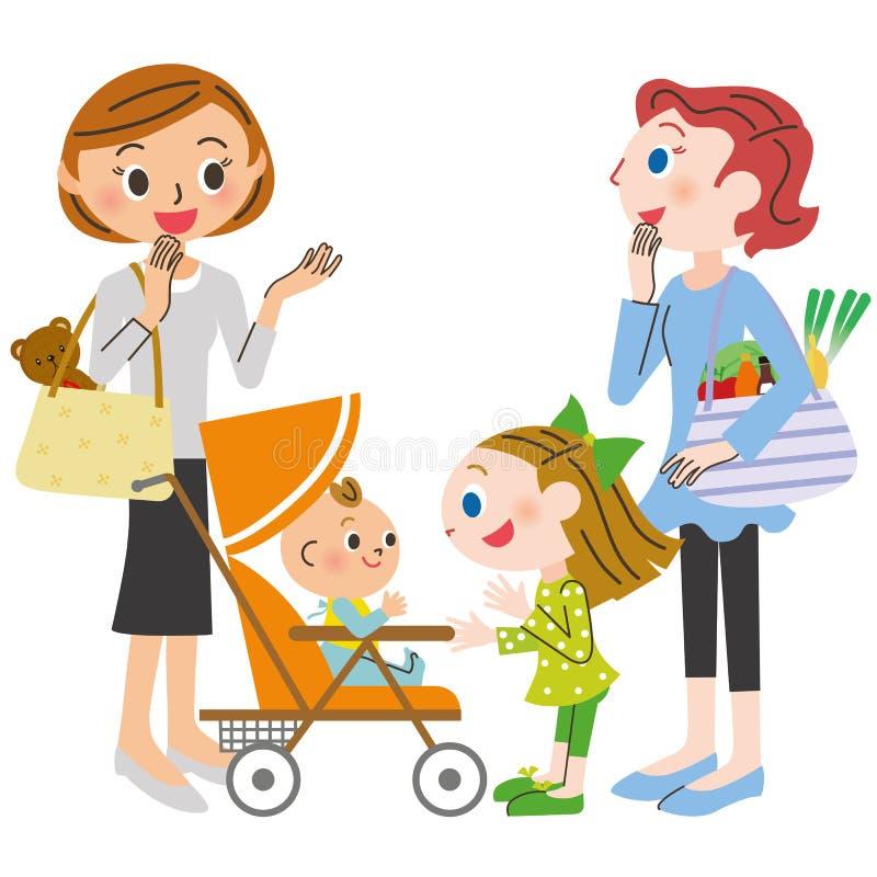 Praatje van de huisvrouw royalty-vrije illustratie