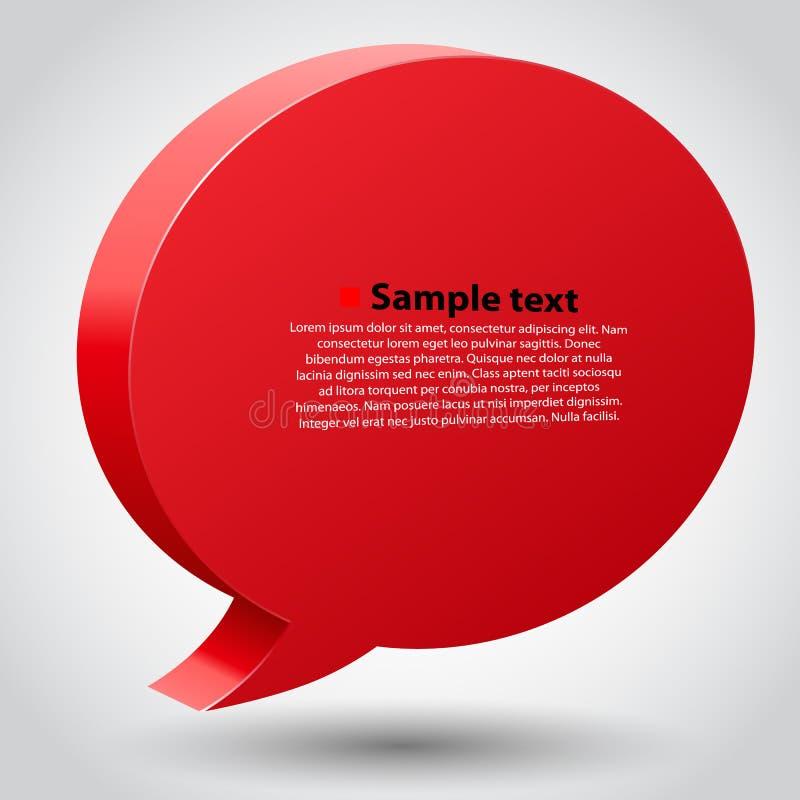 Praatjebel met plaats voor tekst stock illustratie
