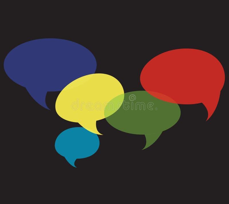 Praatjesymbool, communicatie achtergrondvector royalty-vrije illustratie