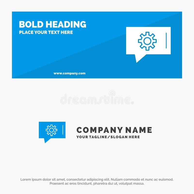 Praatjevoorkeur, Praatje het Plaatsen, van de het Pictogramwebsite van de Praatjesteun de Stevige Banner en Zaken Logo Template stock illustratie