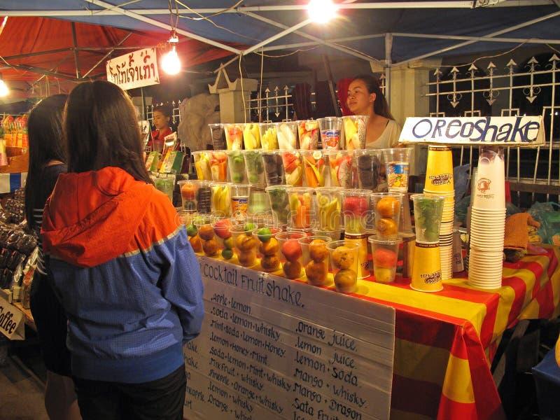 prabang ночи рынка luang стоковая фотография