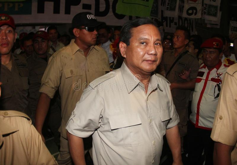 Prabowo subiyanto. Candidate of president of Indonesia republic in the next election from Gerindra Party in Solo, central java, indonesia royalty free stock image