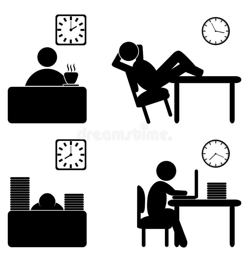 Prac proces ikony ilustracji