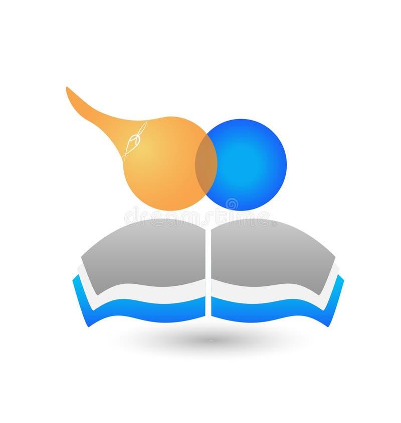 Prac zespołowych dzieci książki logo ilustracji