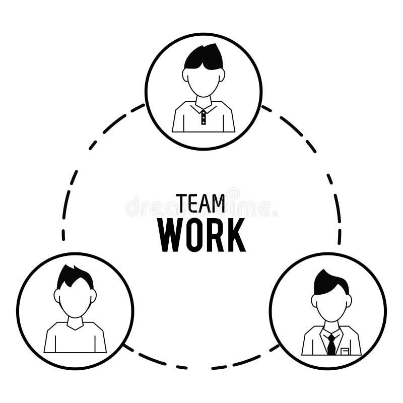 Prac zespołowych ikon projekt ilustracja wektor