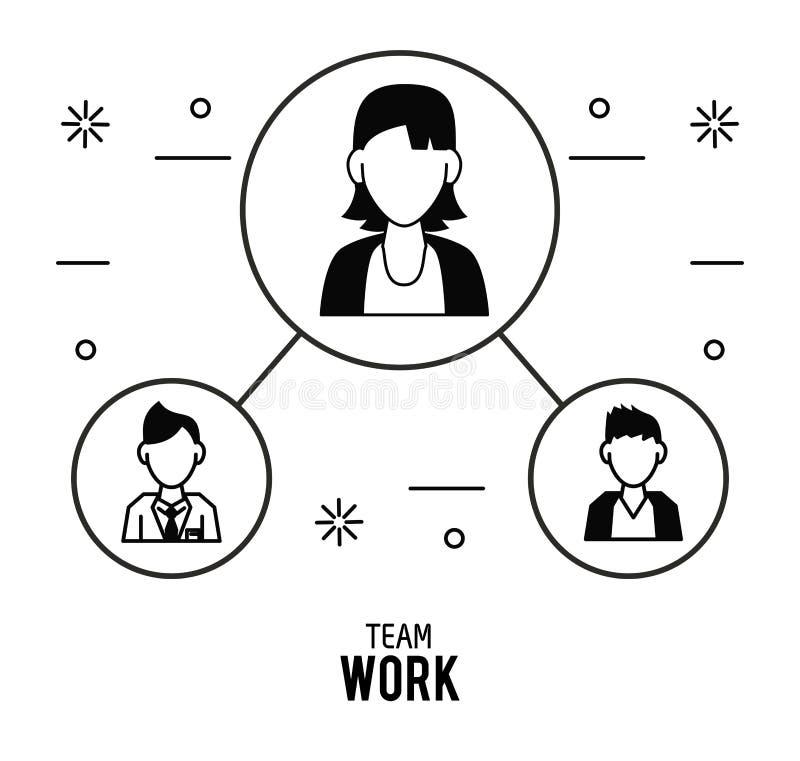 Prac zespołowych ikon projekt ilustracji