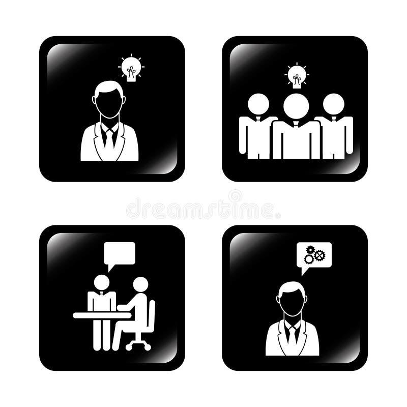 Prac zespołowych ludzie ilustracja wektor