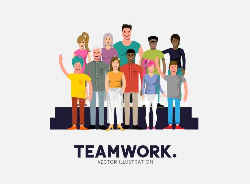 Prac zespołowych ludzie royalty ilustracja