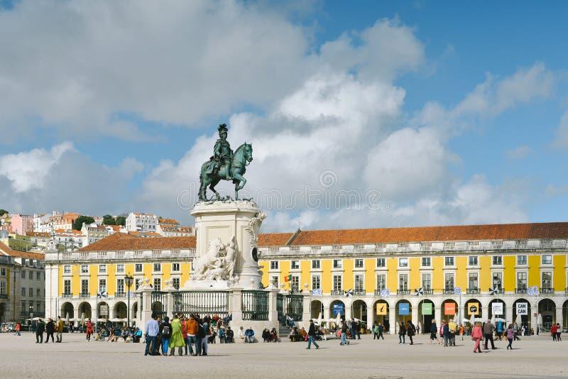 Praca做Comercio -里斯本,葡萄牙 库存照片