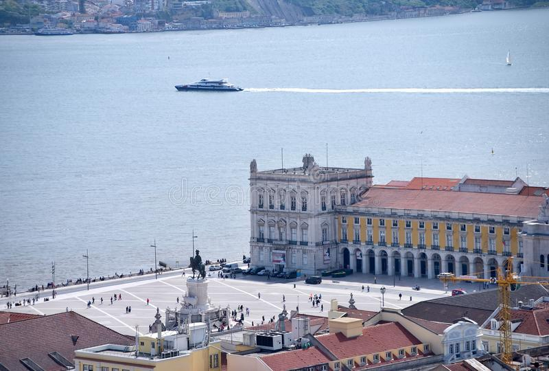 Praca Comercio ( ; Commerce square) ; à Lisbonne, images libres de droits