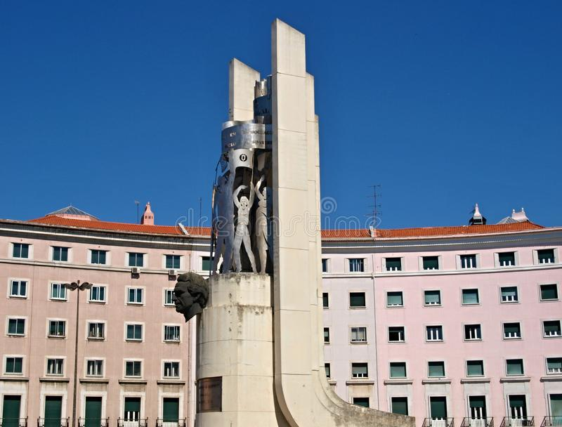 Praca de Areeiro, Lisboa - Portugal fotografía de archivo