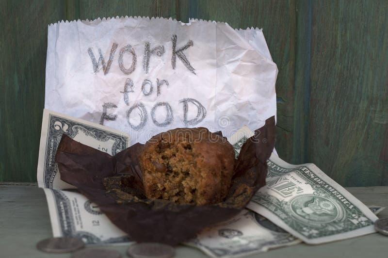 Praca dla jedzenia zdjęcie stock