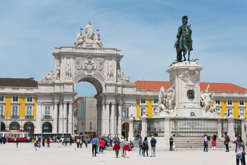 Praca do Comercio Commerce πλατεία στη Λισσαβώνα στοκ εικόνα με δικαίωμα ελεύθερης χρήσης