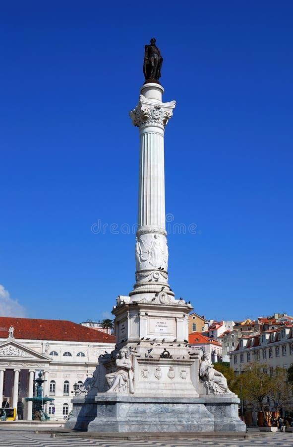 Praca do Rossio (Vierkant Rossio), Lissabon, Portugal royalty-vrije stock afbeelding