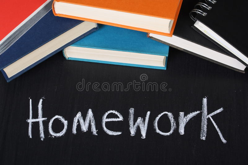Praca domowa zdjęcia stock