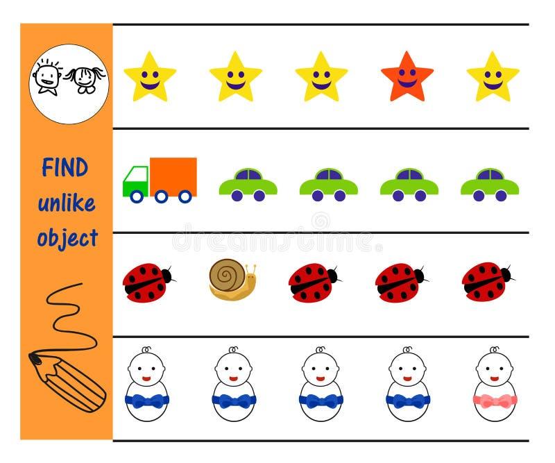 Praca domowa dla dzieciaków dlaczego znajdować dodatku temat od liczby jednakowy ilustracja wektor
