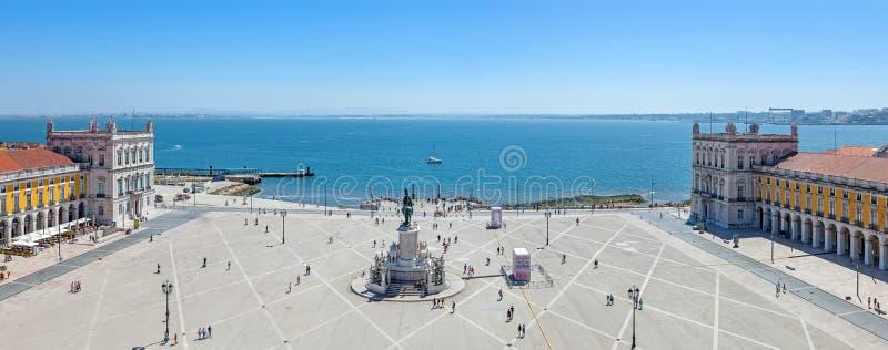 Praca gör Comercio, Lissabon royaltyfri foto