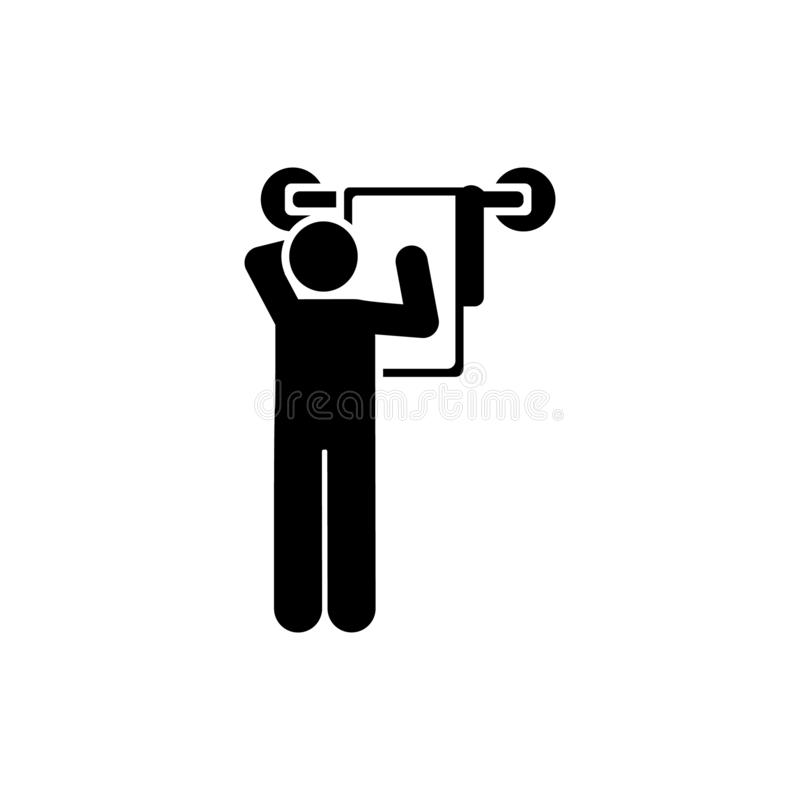 Praca, hotel, gosposia, izbowa ikona Element hotelowa piktogram ikona Premii ilo?ci graficznego projekta ikona znaki i symbole in royalty ilustracja