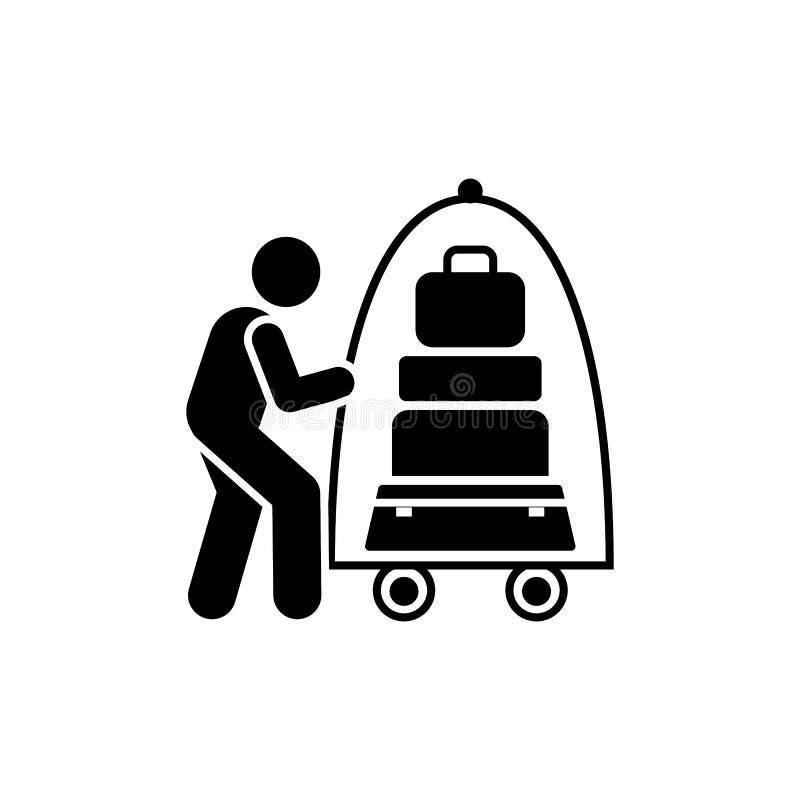 Praca, hotel, gosposia, mężczyzna, ikona Element hotelowa piktogram ikona Premii ilo?ci graficznego projekta ikona znaki i symbol royalty ilustracja