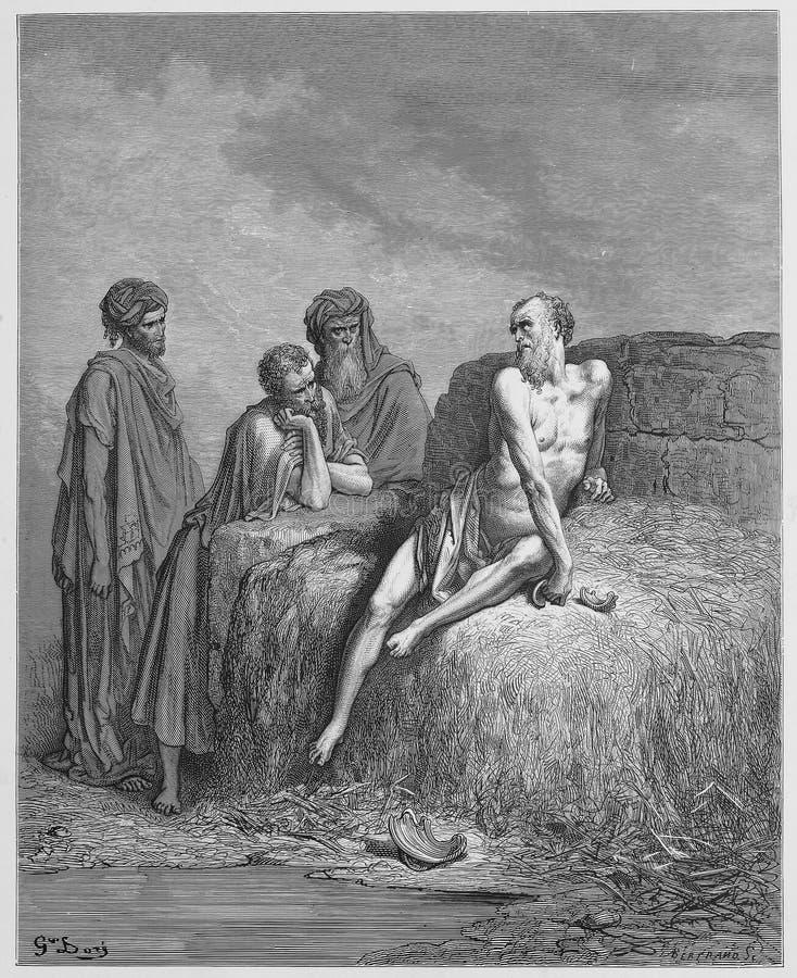 Praca i jego przyjaciele ilustracja wektor