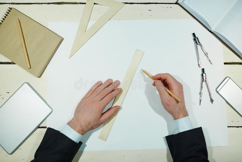 Praca inżynier zdjęcia stock