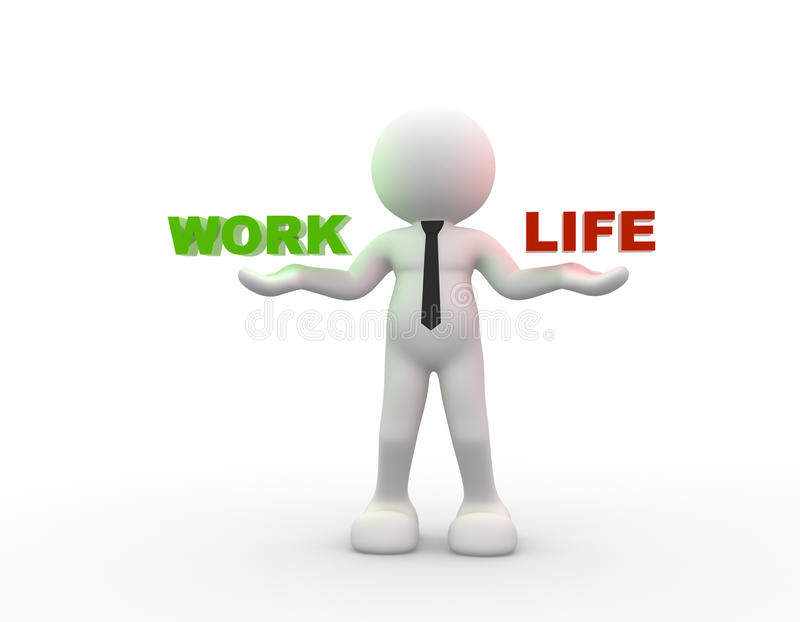 Praca lub życie ilustracji