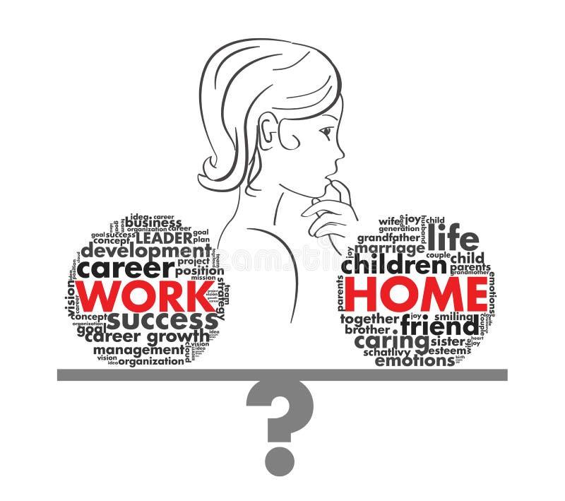Praca lub kariera w postaci listów ilustracja wektor