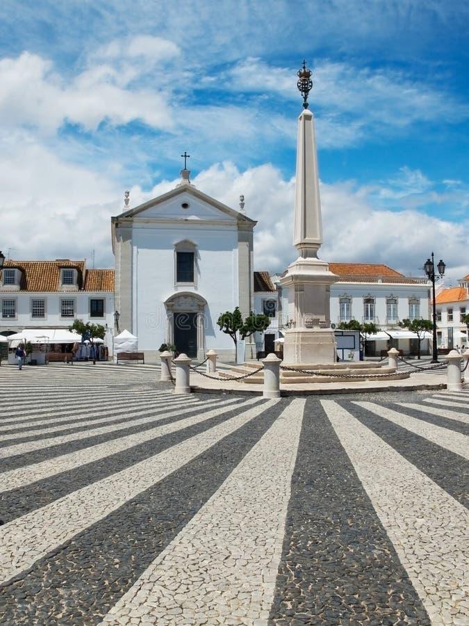 Praca Marques de Pombal Vila Real de Santo Antonio, o Algarve portugal foto de stock