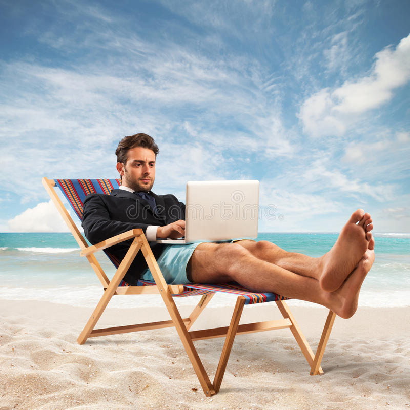 Praca na wakacjach zdjęcia stock