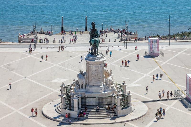 Praca robi Comercio, Lisbon fotografia stock