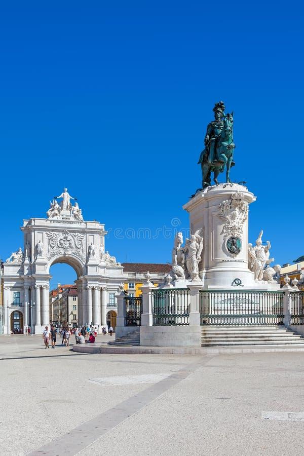 Praca robi Comercio, Lisbon fotografia royalty free