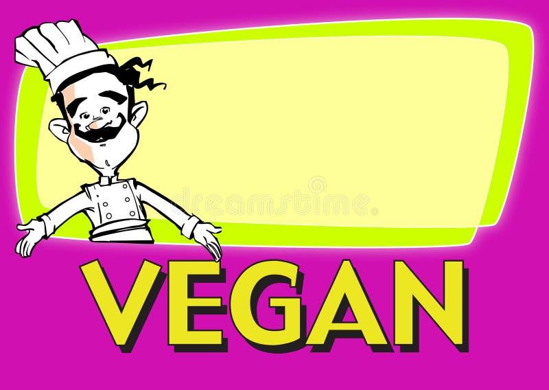 praca serii weganin cook royalty ilustracja