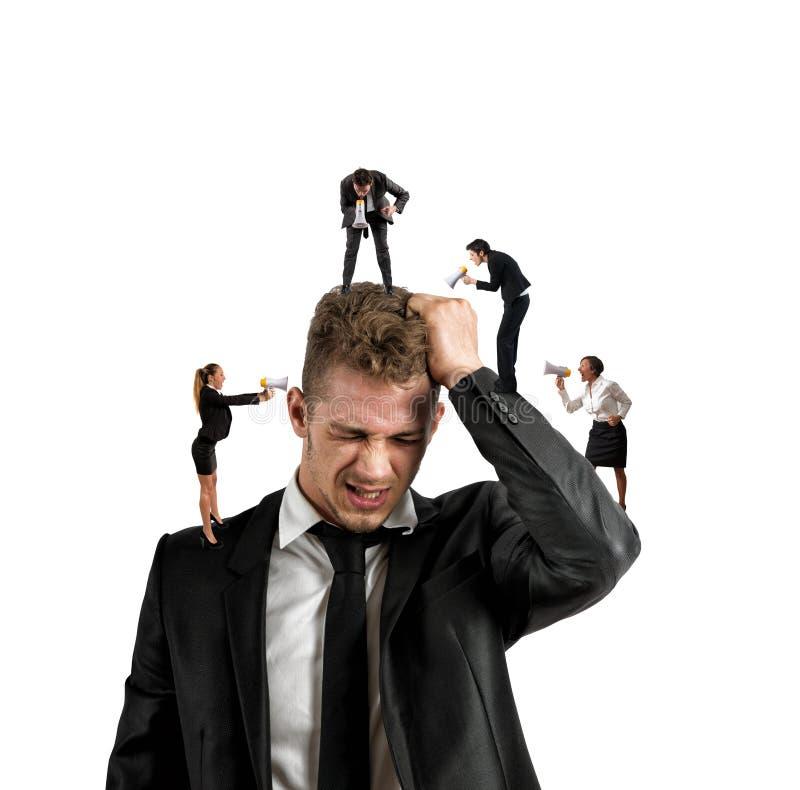 Praca stres zdjęcie stock