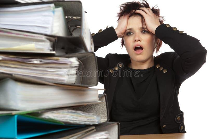 praca stresująca się kobiety praca fotografia royalty free