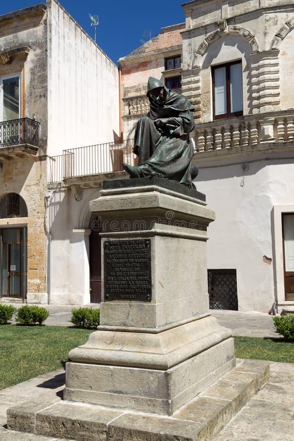Praca Włoski rzeźbiarz Antonio Bortone Fanfulla zdjęcia stock