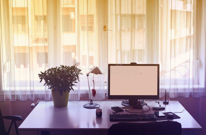 Praca w domu zdjęcie royalty free