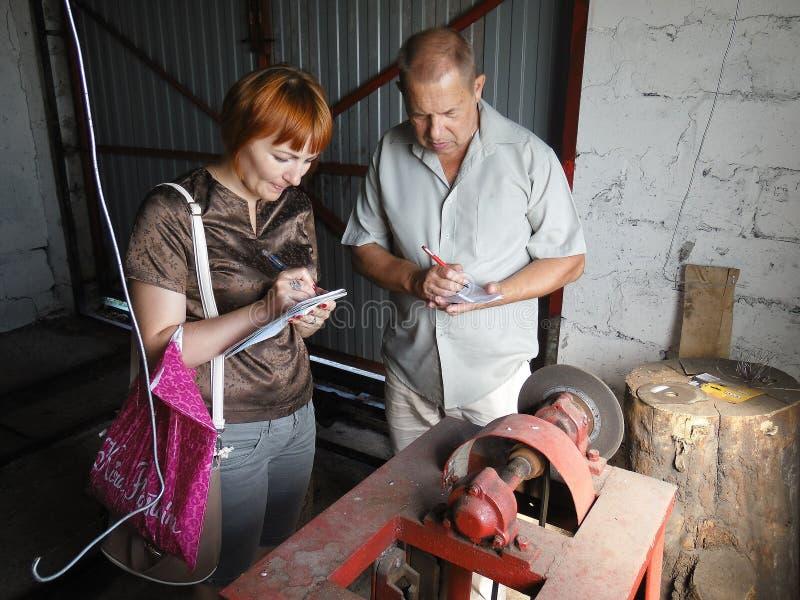 Praca wizytacyjna prowizja dla ochrony praca w Gomel regionie Białoruś obrazy royalty free