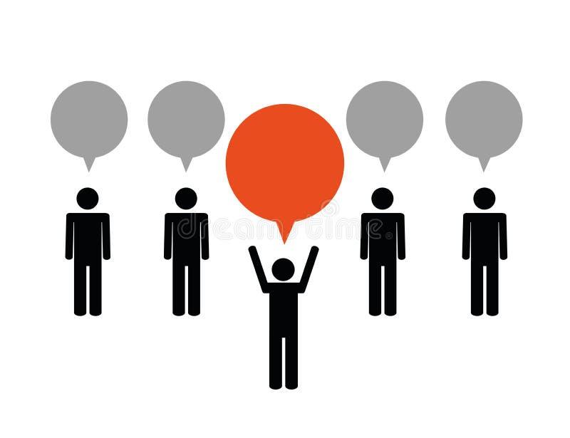 Praca zespołowa pomysłu i lidera biznesu pojęcie ilustracja wektor