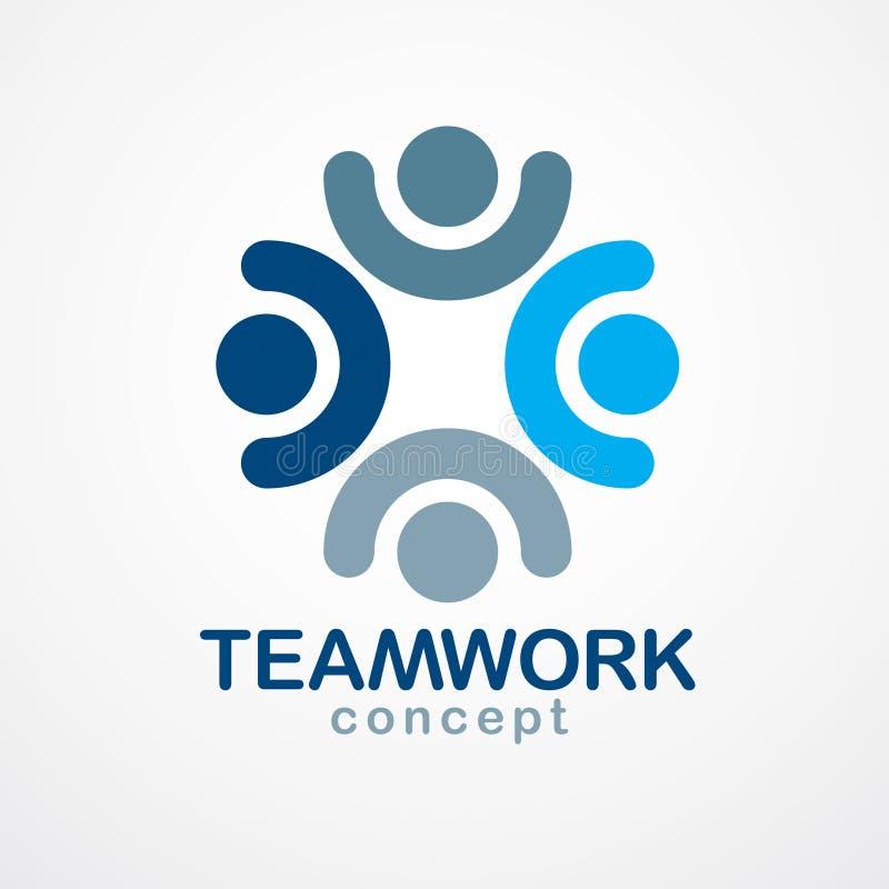 Praca zespołowa biznesmena jedność i współpracy pojęcie tworzyliśmy z ilustracji