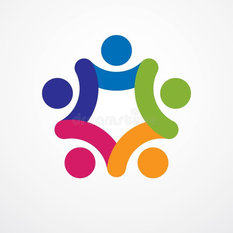 Praca zespołowa biznesmena jedność i współpracy pojęcie tworzyliśmy z royalty ilustracja