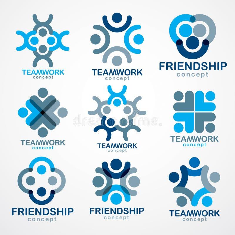Praca zespołowa biznesmena współpracy i jedności pojęcia tworzyli z royalty ilustracja
