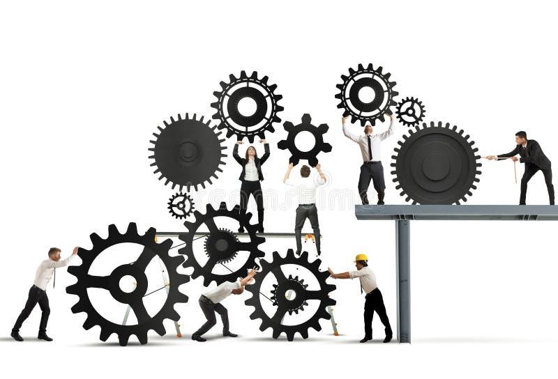 Praca zespołowa biznesmeni ilustracji
