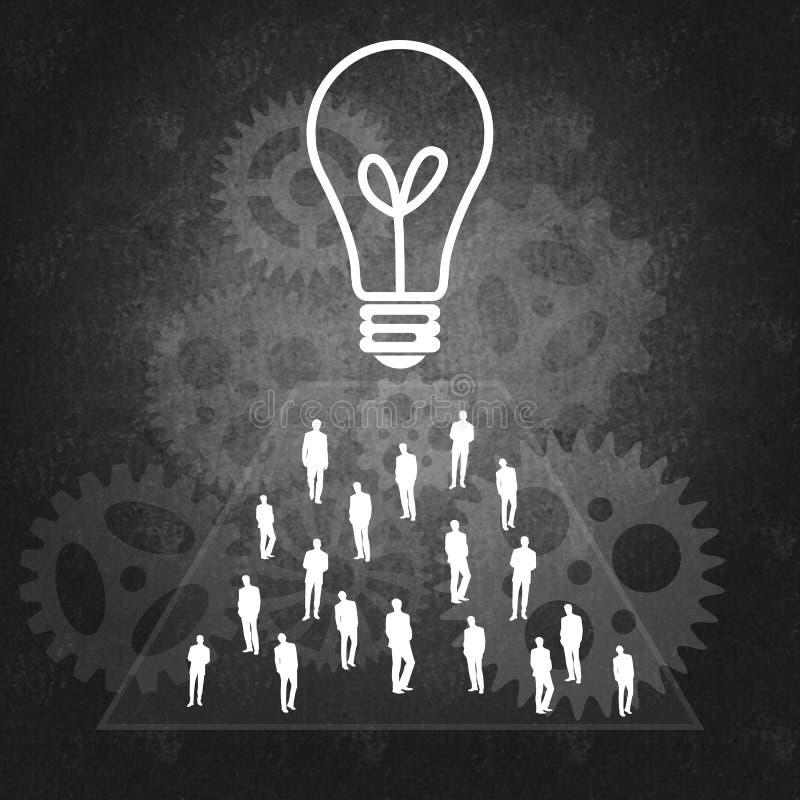 Praca zespołowa i biznesowy sukces ilustracji