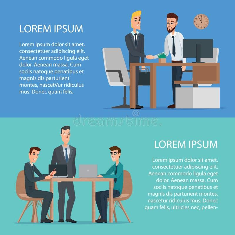 Praca zespołowa i pomocy pojęcia projekta biznesowy użycie ilustracja wektor