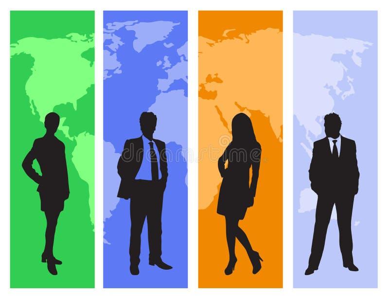 praca zespołowa jednostek gospodarczych royalty ilustracja